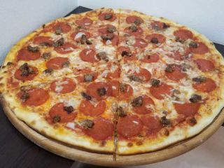 Meat lovers pizza delivery