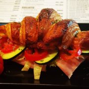 Croissant stuffed with ham