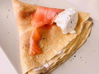 Salmon crepe delivery
