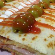 Pancake cheese  ham