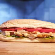Premium grilled chicken in roll bun