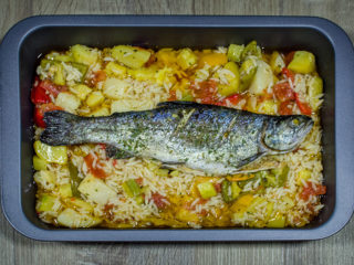 Trout with vegetables delivery