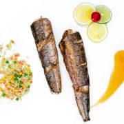 Oslić hek pečen na roštilju obrok