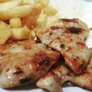 Chicken breasts 120g + French fries 150g + Coca Cola 0.25L
