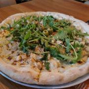 Pollo e gorgonzola pizza