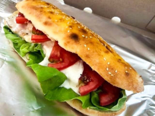Haus flat bread sandwich delivery