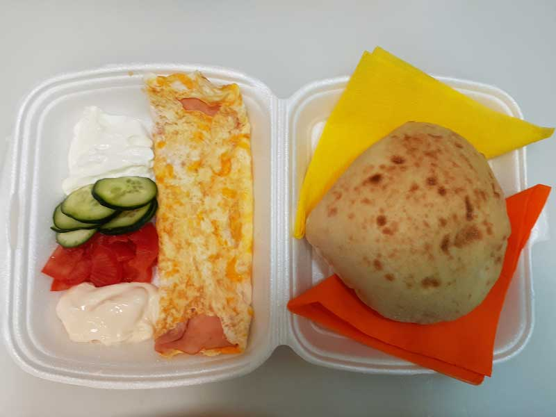 Omelete with pecenitsa delivery
