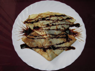 Pancakes with nutella delivery