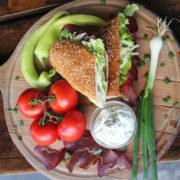 Sandwich beef prosiutto