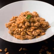 Chicken peanuts risotto