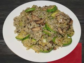 Risotto with mushrooms and zuchinni dostava