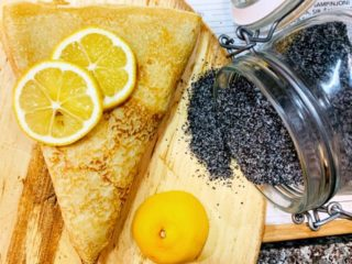 Lemon-poppy seed crepe delivery