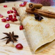 Pomegranate crepe