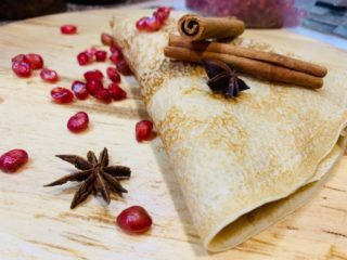 Pomegranate crepe delivery