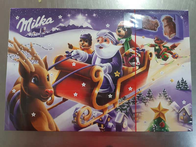 Milka New Years calendar delivery