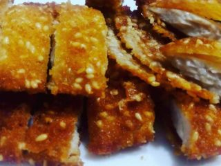 15. Breaded chicken breasts with sesame shrimp chips delivery