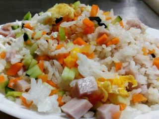 86. Rice with vegetables, ham and eggs delivery
