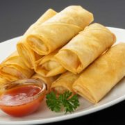 1. Spring rolls with vegetables