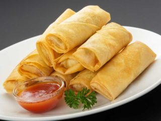 1. Spring rolls with vegetables delivery
