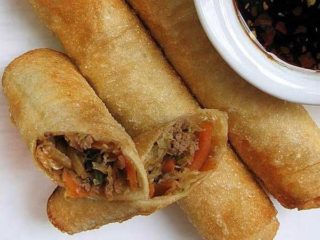 2. Spring rolls with meat dostava