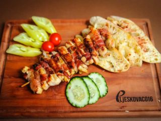 Rolled chicken kabob delivery