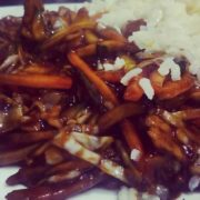 51. Shredded pork in hot sichuan sauce with Chinese vinegar