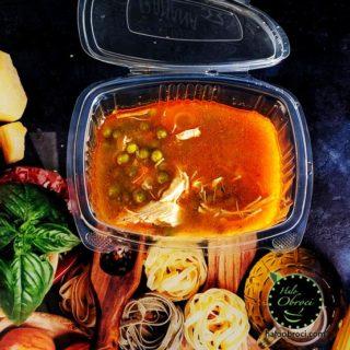 Čorbast grašak sa piletinom – obrok Halo Obroci dostava