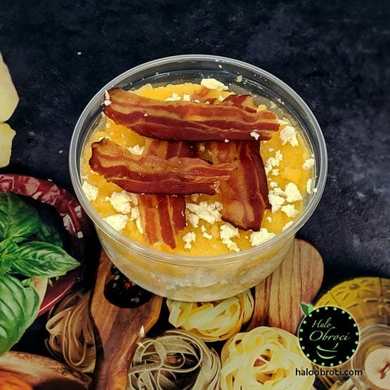 Domaćinska palenta sa sirom i pančetom dostava