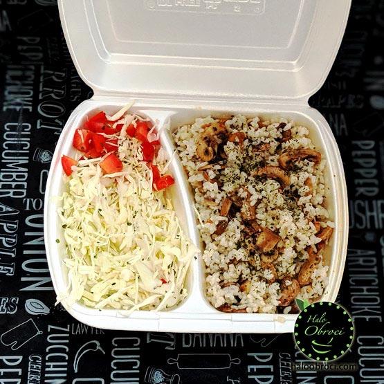 Posni rižoto sa šampinjonima – obrok dostava