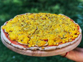 Corn pepper pizza Green Vibes dostava
