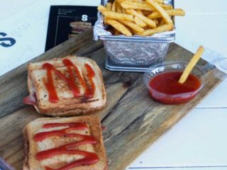 Toast sandwich Kobas Bar delivery