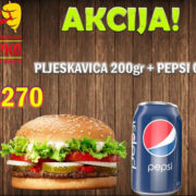 Pljeskavica 200g + Pepsi 0.33L