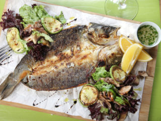 Seabass baked in paperr delivery