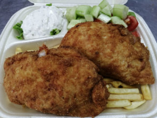 Stuffed chicken fillet meal delivery