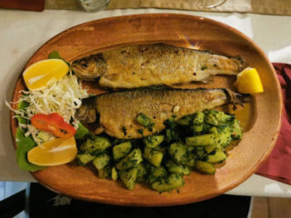 Grilled trout Mali Balkan delivery