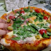 Olive tree pizza