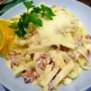 Tagliatelle with prosciutto