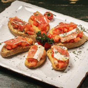 Bruschetta with njeguski prosciutto