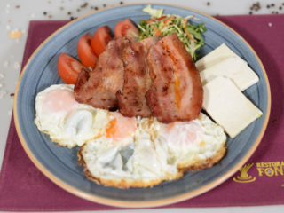 Eggs with bacon delivery