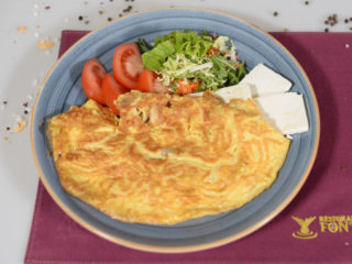 Omelette with mushrooms Fontana Restoran delivery
