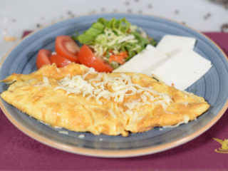 Omelette with cheese delivery