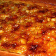 Baked beans with sausages