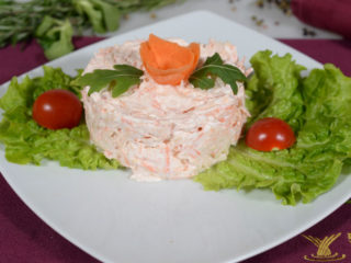 Carrot and celery in sour cream delivery