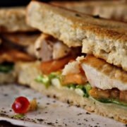 Toast sandwich with chicken