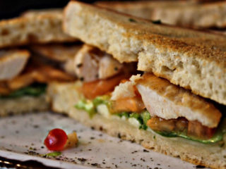 Toast sandwich with chicken Cyrano Caffe Pizzeria delivery