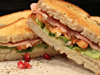 Toast sandwich with ham Cyrano Caffe Pizzeria delivery