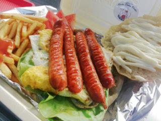 Sausage in bun breakfast Krkiša delivery