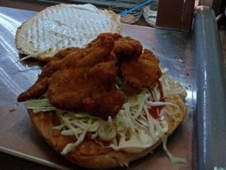 Fried chicken fillet in bread crumbs Hamburgerija Rimac delivery