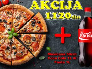 Pica Mexicana 50cm + Coca-Cola - Original 1L ili Fanta - Orange 1L Kuhinjica Novi Sad dostava