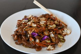 45. Shredded pork in hot sichuan sauce Chaos Banovo Brdo delivery